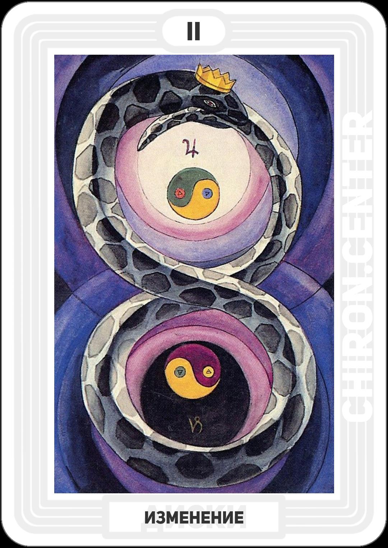 Древо жизни: Хокма (энергия) в мире земли — полярные вибрации. Астрологическое значение: Юпитер в Козероге. Аналогии: Уроборос, змея, кусающая себя за хвост, порождающая сама себя, — символ вечности.