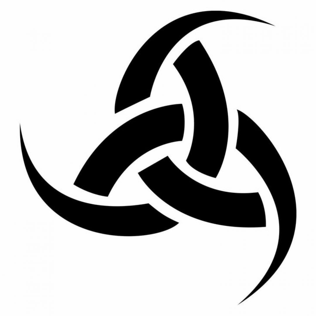 Языческий символ скандинавских викингов и древних кельтских друидов. Один из символов Бога Одина. Представляет собой тройной рог для вина, знаменующий силу и могущество. Символ указывает на стремление к знаниям и открытиям, призывает к обретению просветления.